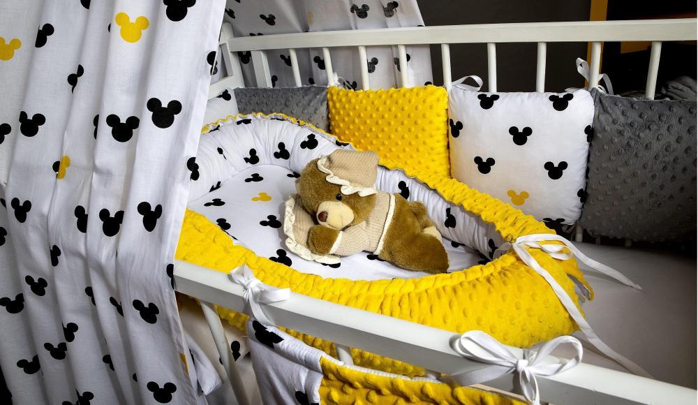 Súprava do postieľky Mickey Minky žlté