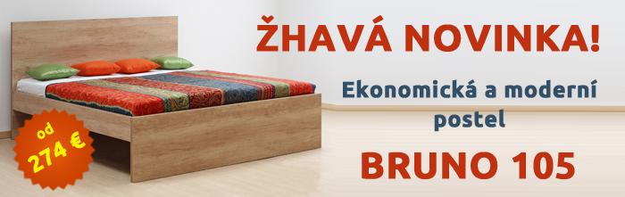 Horúca novinka! Ekonomická a moderné posteľ Bruno