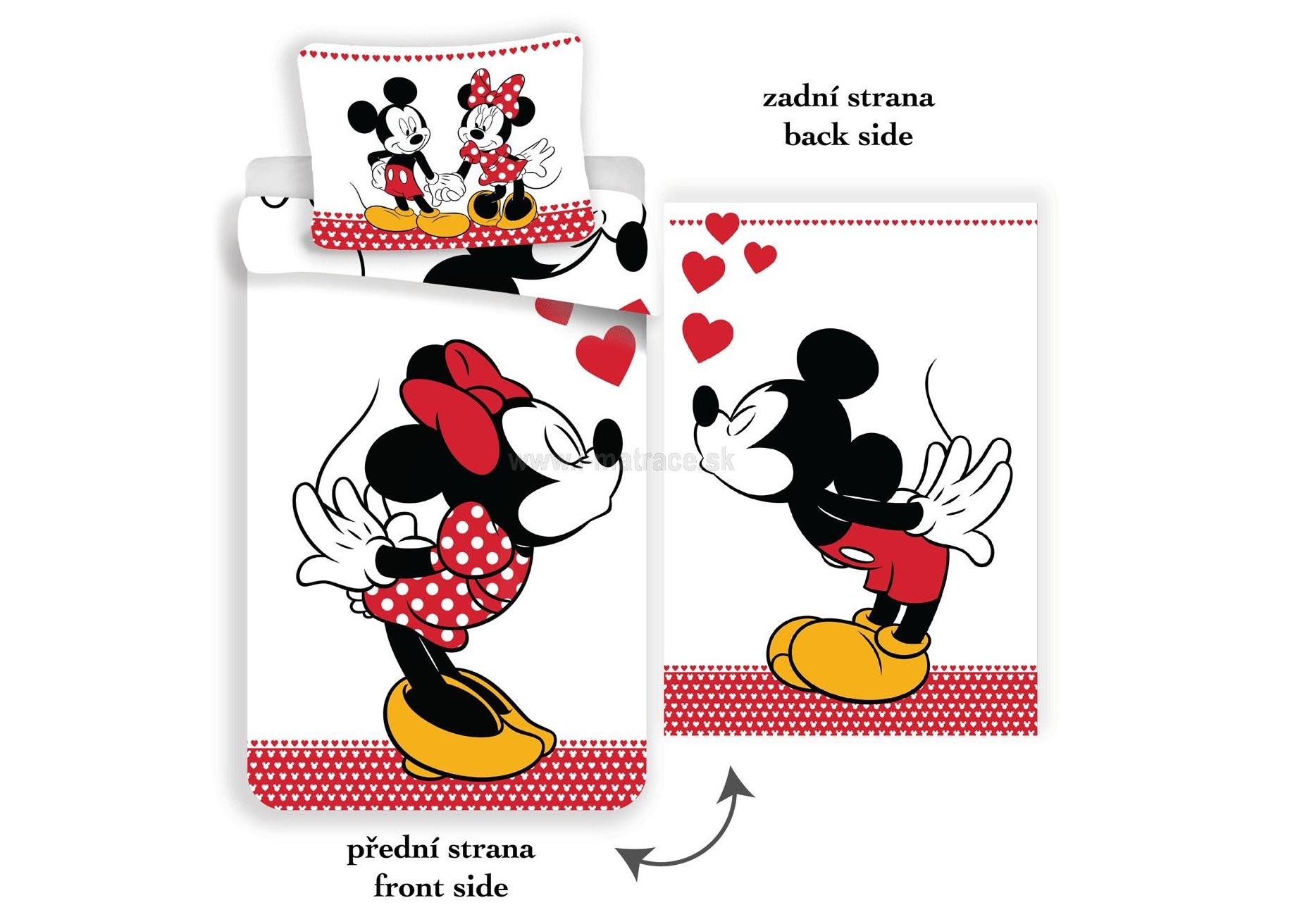 Obliečky Mickey and Minnie in love