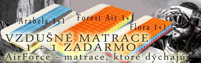 Vzdušné matrace AirForce. Matrace, ktoré dýchají. Nyní v akci 1   1 zdarma.